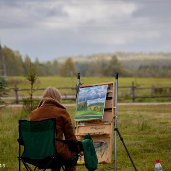 Mārtiņa Krūmiņa gleznošanas studija